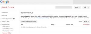 بازگشت به نتایج وبی گوگل remove urls webmaster google